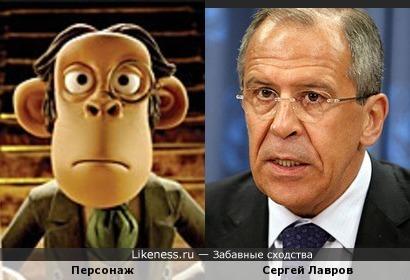 Мультперсонаж похож на Сергея Лаврова