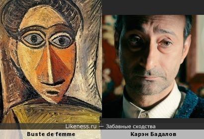 Персонаж картины Пабло Пикассо и Карэн Бадалов