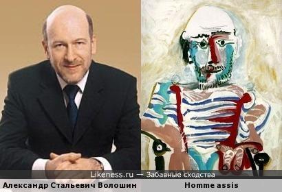 Александр Волошин на картине Пабло Пикассо