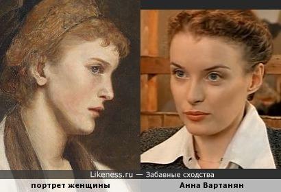 Анна Вартанян на картине Эдуарда Вейта (1856-1925)