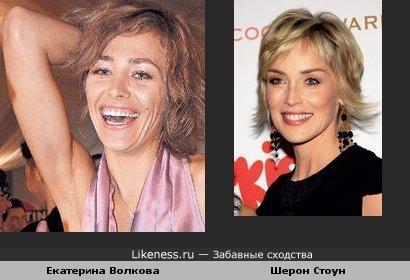 Шерон Стоун и Катя Волкова похожи