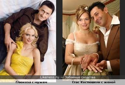 Эти две пары похожи. Мужья и жены между собой.
