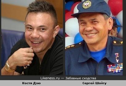 Костя Дзю похож на Сергея Шойгу