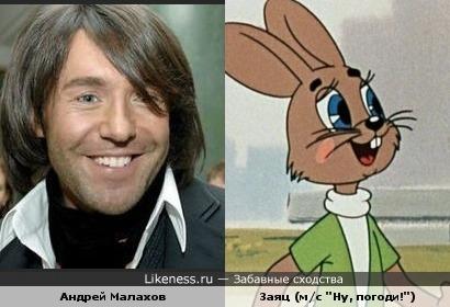 """Андрей Малахов похож на зайца из """"Ну, погоди!"""""""