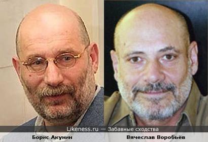 Борис Акунин похож на актёра Вячеслава Воробьёва