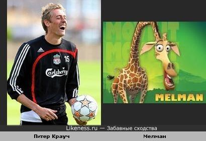 Футболист похож на жирафа
