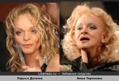 Между Ларисой Долиной и Анной Тереховой есть общие черты