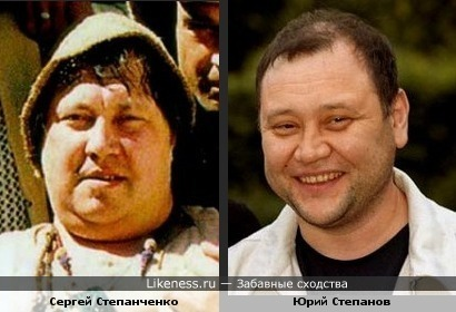 Сергей Степанченко и Юрий Степанов кажутся похожими