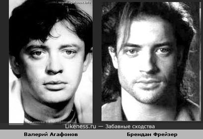 Исполнитель романсов Валерий Агафонов и голливудский актер Брендан Фрейзер