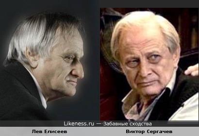 Лев Елисеев похож на Виктора Сергачева