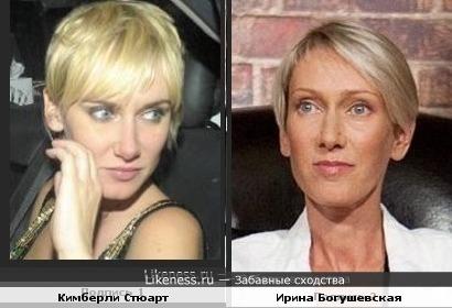 Модель, актриса Кимберли Стюарт и певица,поэтесса Ирина Богушевская