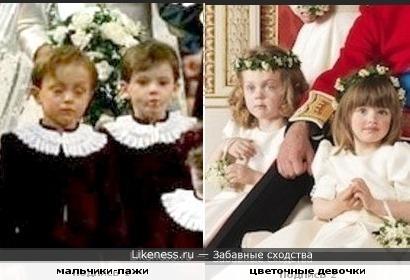 Дети-двойники на королевских свадьбах