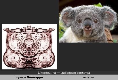 Сумчатый лайк (эскиз сумки Леонардо да Винчи и коала)