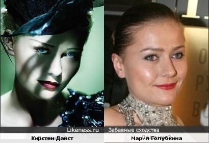Кирстен Данст и Мария Голубкина