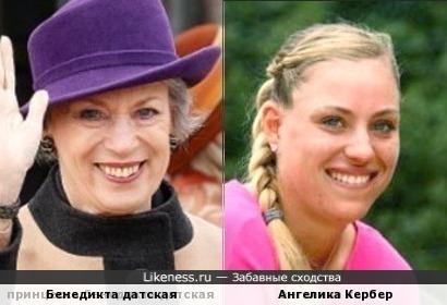 Принцесса Бенедикта Датская и Ангелик Кербер похожи как мать и дочь