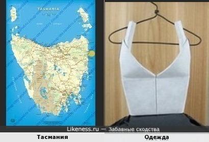 Тасмания напомнила предмет женской одежды