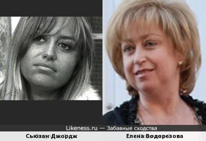 Сьюзан Джордж и Елена Водорезова
