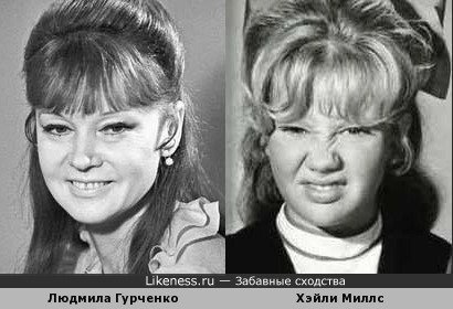 Людмила Гурченко и Хэйли Миллс