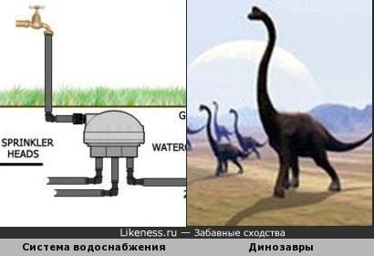 Схема похожа на динозавра
