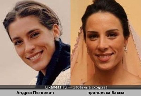 теннисистка Андреа Петкович и принцесса Иордании Басма