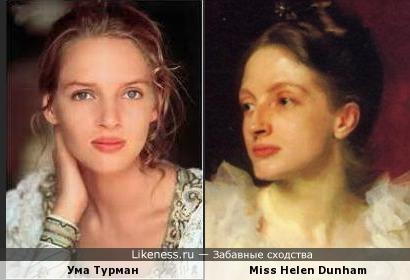 Ума Турман напомнила девушку на картине Джона Сингера Сарджента