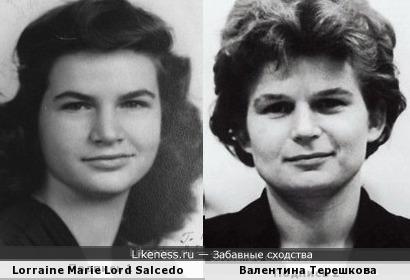 Некто Lorraine Marie Lord Salcedo похожа на Валентину Терешкову