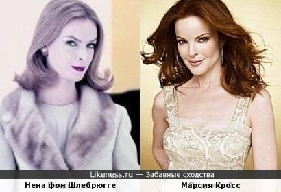 Нена фон Шлебрюгге и Марсия Кросс