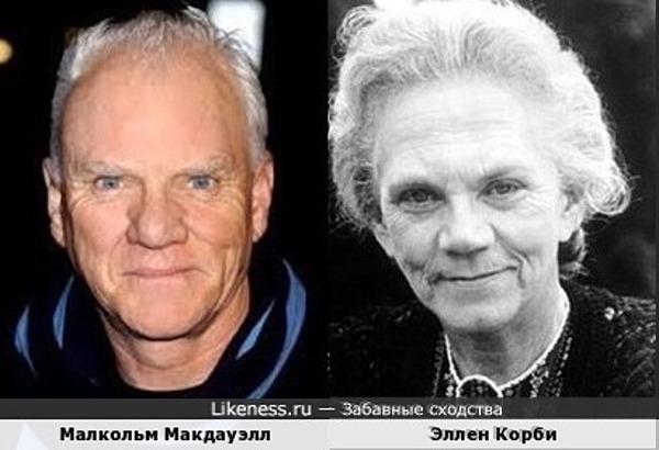 Малкольм Макдауэлл и Эллен Корби