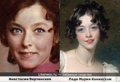Анастасия Вертинская и Мария Канингхэм (художник Томас Лоуренс)
