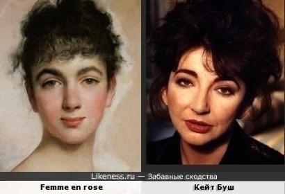 Женский портрет кисти Чарльза Чаплина и Кейт Буш