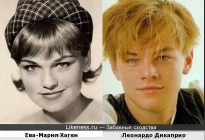 Ева-Мария Хаген и Леонардо Дикаприо
