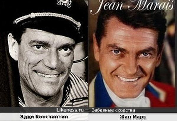 Эдди Константин и Жан Марэ