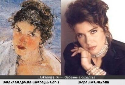 Картина Николая Фешина и актриса Вера Сотникова