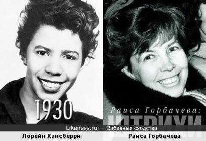 Лорейн Хэнсберри и Раиса Горбачева