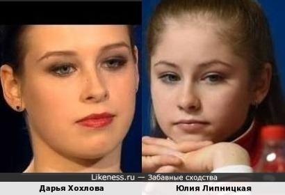 Дарья Хохлова и Юлия Липницкая