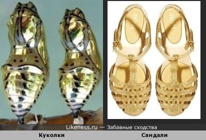 Куколки напомнили женскую обувь
