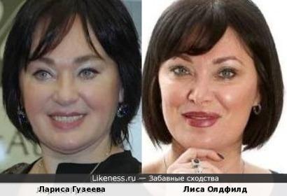 Лариса Гузеева и Лиса Олдфилд