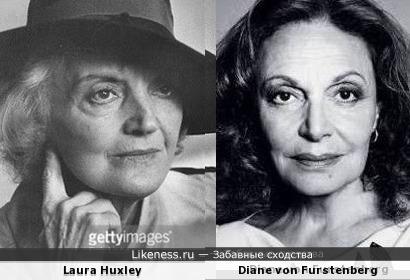 Лаура Хаксли и Диана фон Фюрстенберг