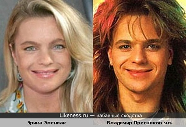 Эрика Элениак на этом фото напомнила молодого Преснякова