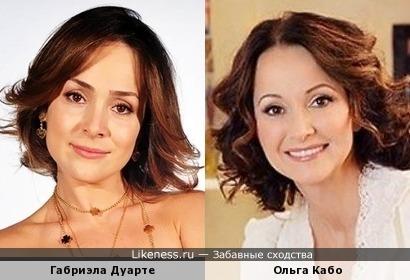 Габриэла Дуарте и Ольга Кабо