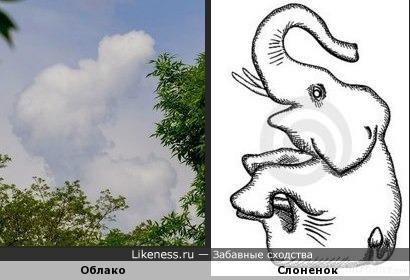 О-о-обла-ка белоухие слонята...