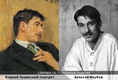 Корней Чуковский на портрете И.Репина напомнил актера Алексея Якубова