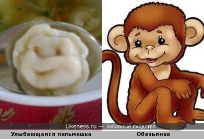 Улыбашки: пельмешка и обезьянка