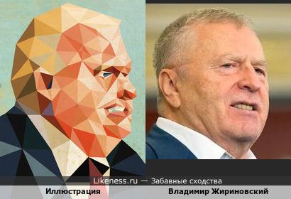 Полигональный Жириновский на иллюстрации канадского художника Дейва Мюррея