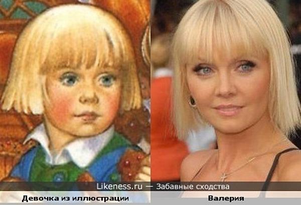 Девочка с иллюстрации художника Carol Lawson похожа на Валерию