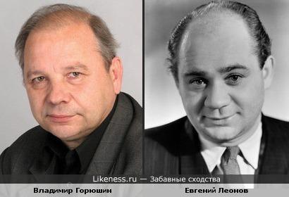 Владимир Горюшин чем то похож на Евгения Леонова.