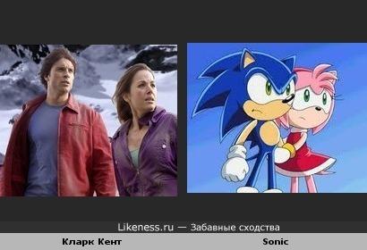 Кларк Кент похож на Sonic'а