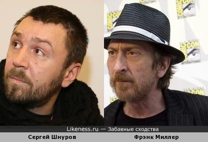 Сергей Шнуров похож на автора комиксов Фрэнка Миллэра