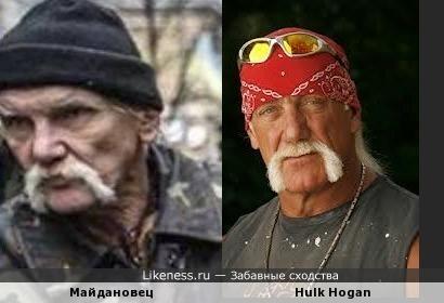 Колоритный националист с Майдана чем-то похож на американского актёра Халка Хогана