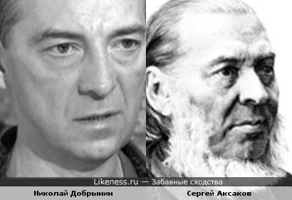 Николай Добрынин похож на Сергея Аксакова